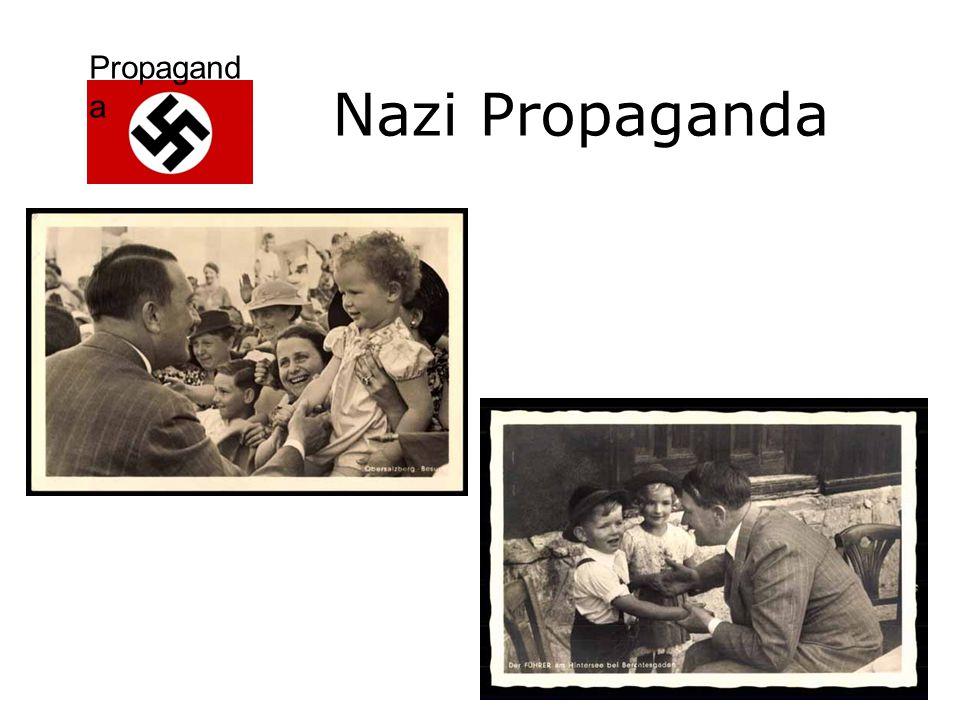 Propagand a Reclame voor politieke partij of politiek ideaal De bevolking wordt gehersenspoeld