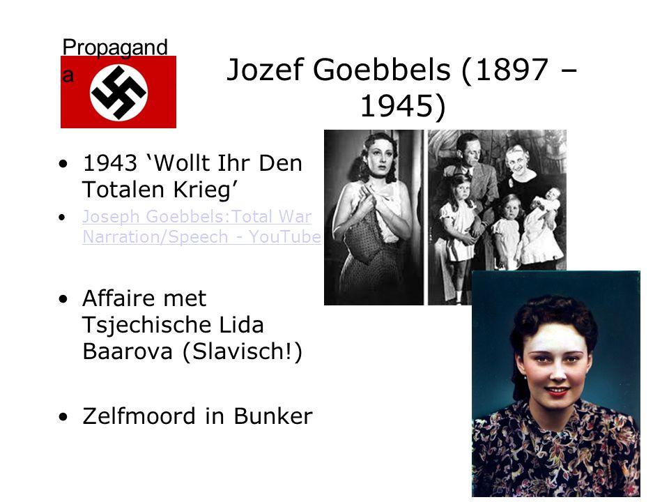 Propagand a Jozef Goebbels (1897 – 1945) 1943 'Wollt Ihr Den Totalen Krieg' Joseph Goebbels:Total War Narration/Speech - YouTubeJoseph Goebbels:Total