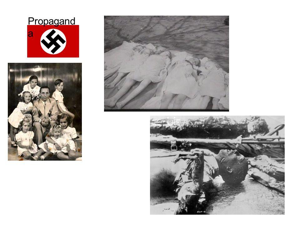 Propagand a Kranten 1933: –4.700 dagbladen –3% in handen NSDAP 1944: –997 dagbladen, –82% in handen NSDAP