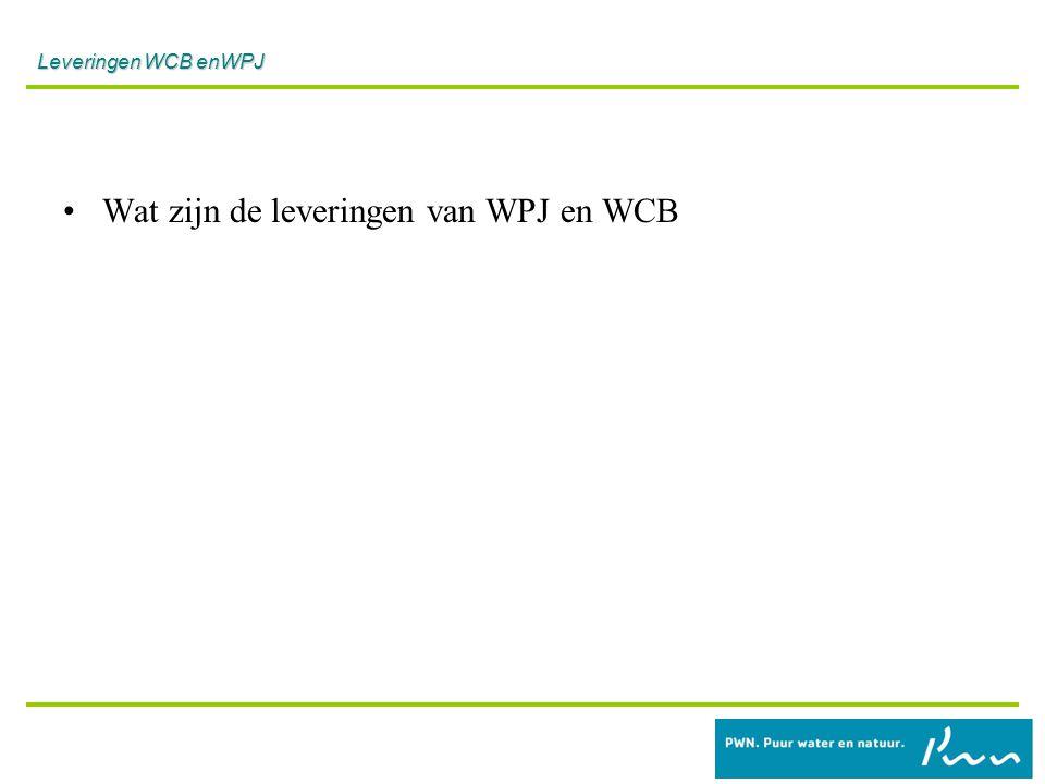 WPJ leveringen.