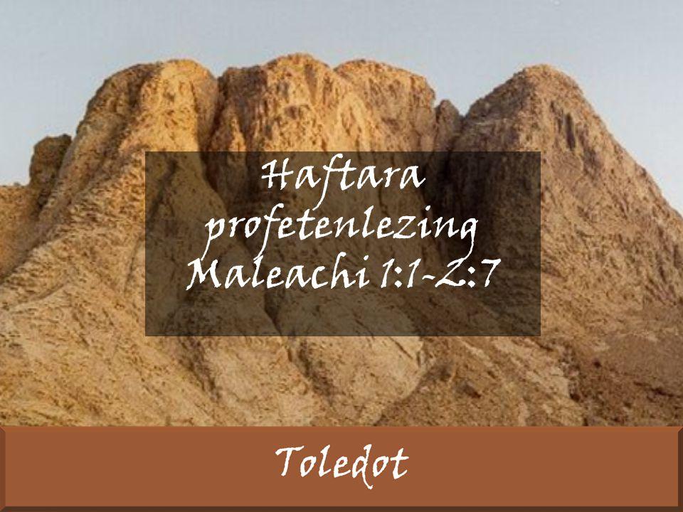 Haftara profetenlezing Maleachi 1:1-2:7