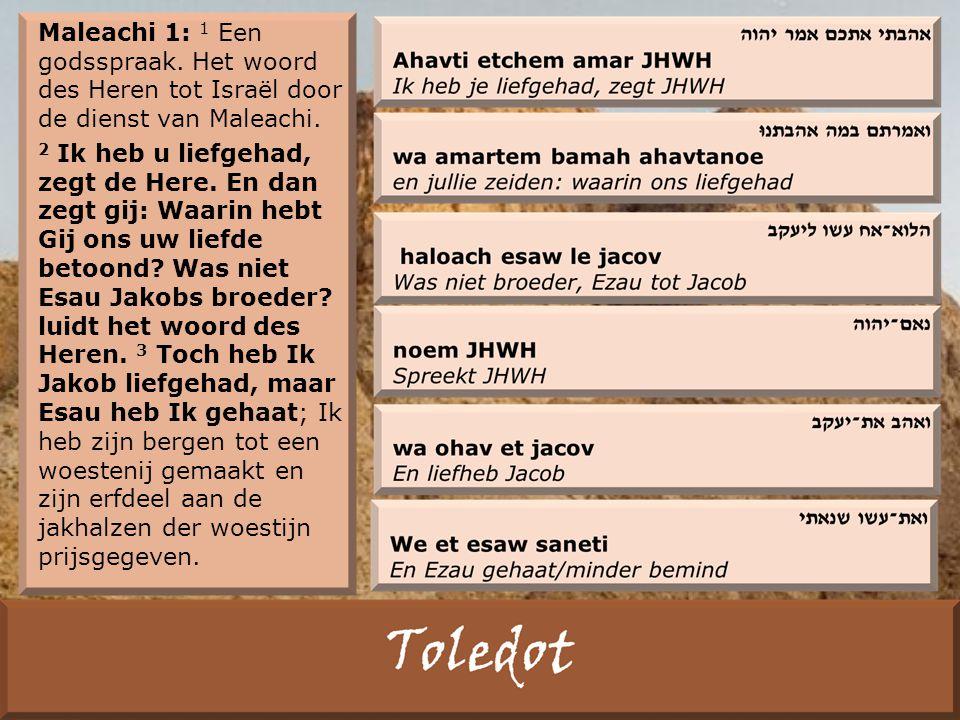 Maleachi 1: 1 Een godsspraak. Het woord des Heren tot Israël door de dienst van Maleachi.
