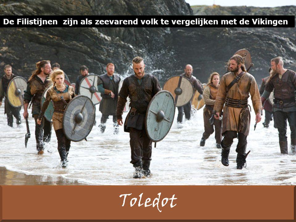 De Filistijnen zijn als zeevarend volk te vergelijken met de Vikingen