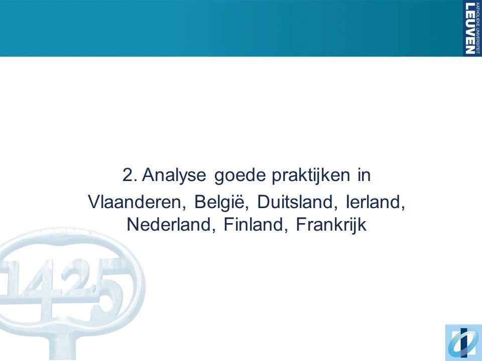 2. Analyse goede praktijken in Vlaanderen, België, Duitsland, Ierland, Nederland, Finland, Frankrijk
