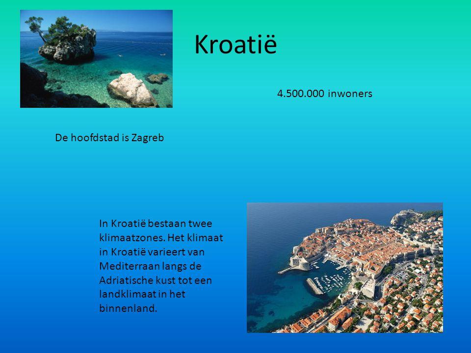Kroatië In Kroatië bestaan twee klimaatzones. Het klimaat in Kroatië varieert van Mediterraan langs de Adriatische kust tot een landklimaat in het bin