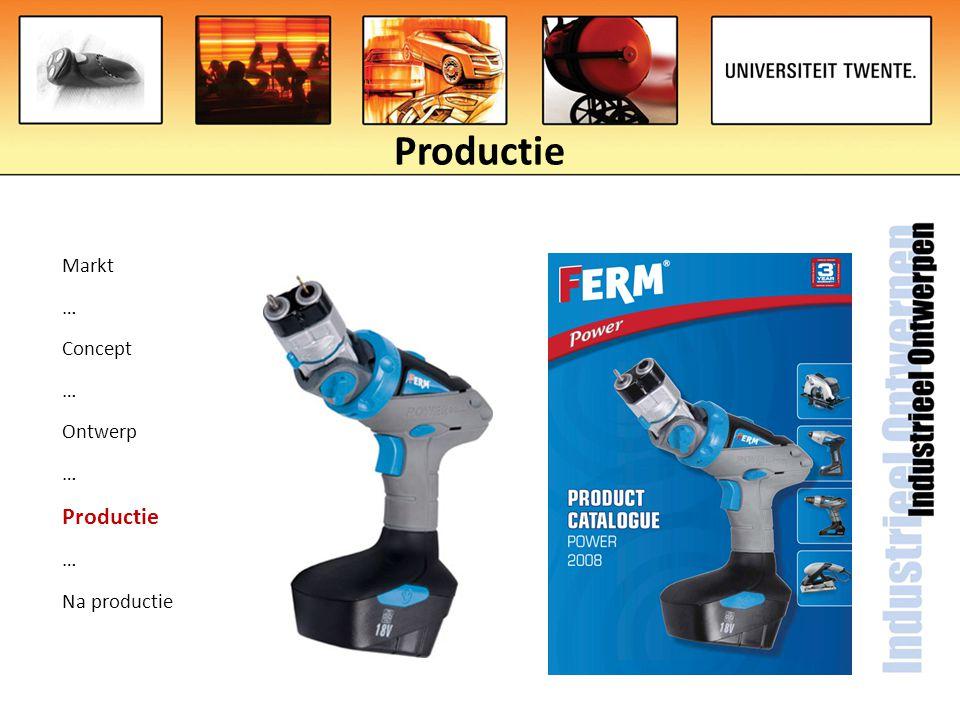 Productie Markt … Concept … Ontwerp … Productie … Na productie