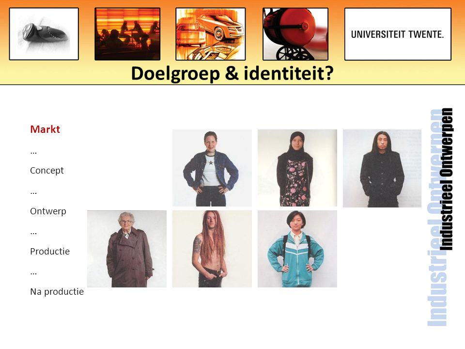 Doelgroep & identiteit? Markt … Concept … Ontwerp … Productie … Na productie