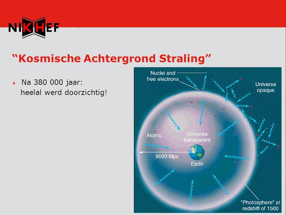 Kosmische Achtergrond Straling Na 380 000 jaar: heelal werd doorzichtig!