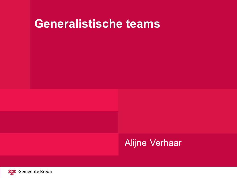 Generalistische teams Alijne Verhaar