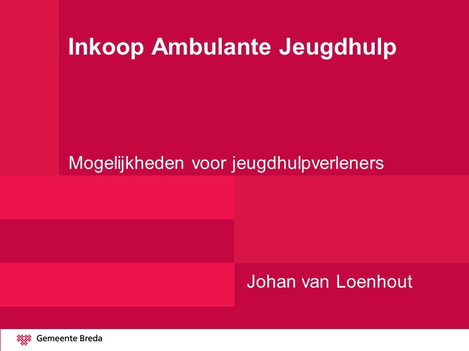 Inkoop Ambulante Jeugdhulp Mogelijkheden voor jeugdhulpverleners Johan van Loenhout