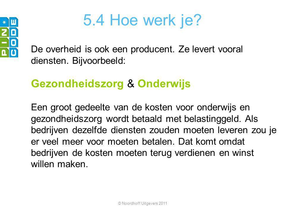 5.4 Hoe werk je. De overheid is ook een producent.