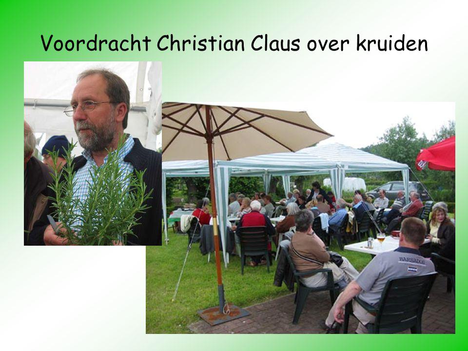 Voordracht Christian Claus over kruiden