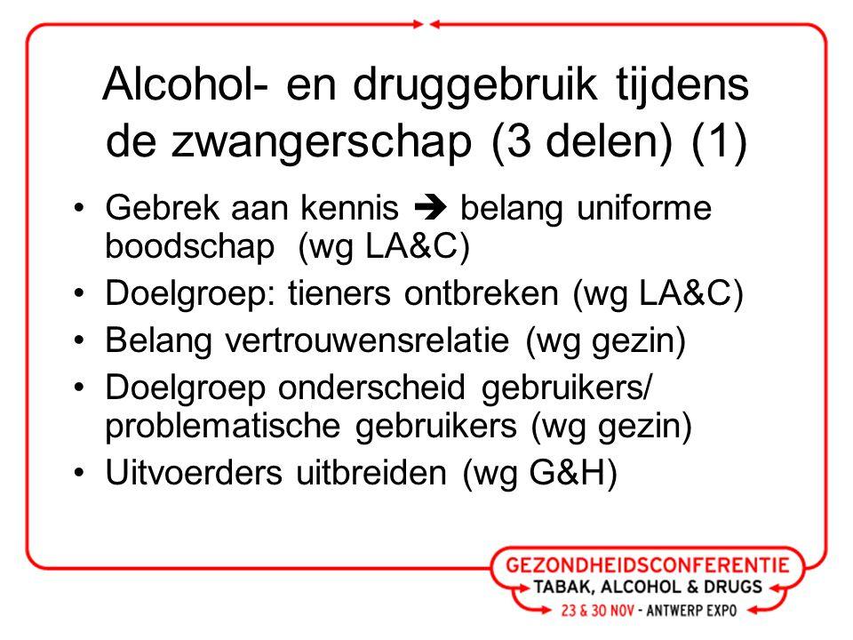 Alcohol- en druggebruik tijdens de zwangerschap (3 delen) (2) Alcohol en druggebruik pas later in zwangerschap bekend: strategie.