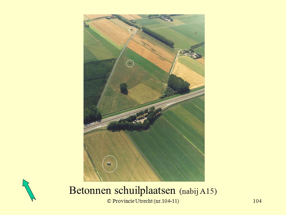 © Provincie Utrecht (104-7)103 Betonnen schuilplaatsen (5) nabij Lingebos