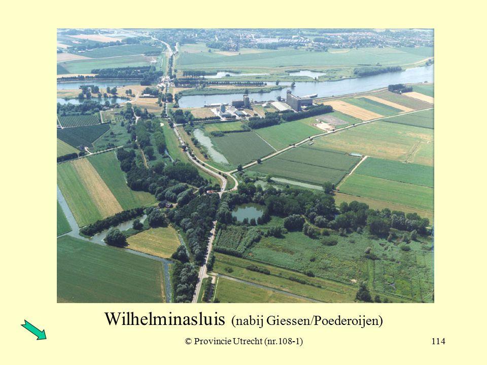 © Provincie Utrecht (nr.107-9)113 Wilhelminasluis (nabij Giessen/Poederoijen)