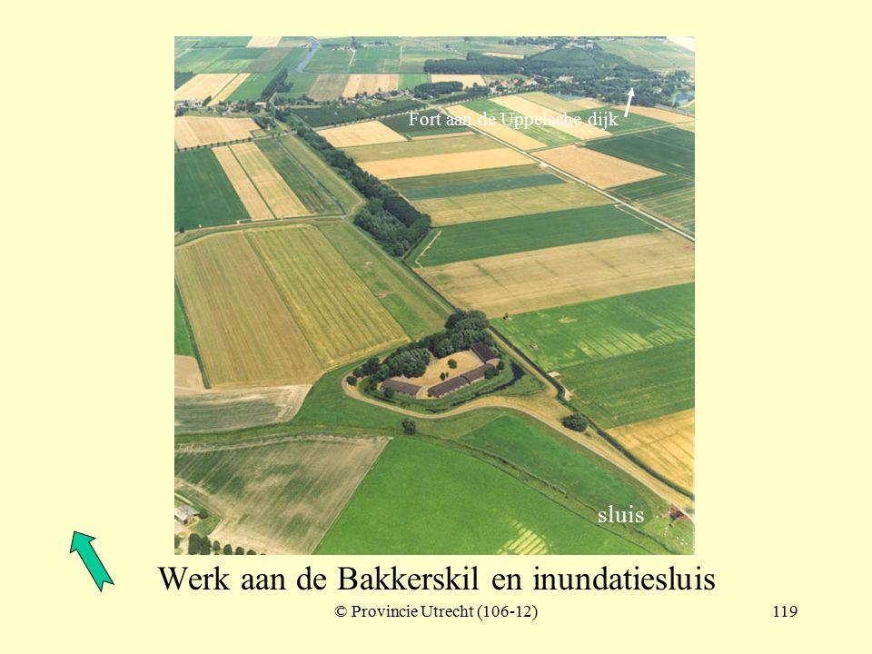 © Provincie Utrecht (nr.106-8)118 Werk aan de Bakkerskil met betonnen schuilplaatsen nabij de Schenkeldijk Werk aan de Bakkerskil