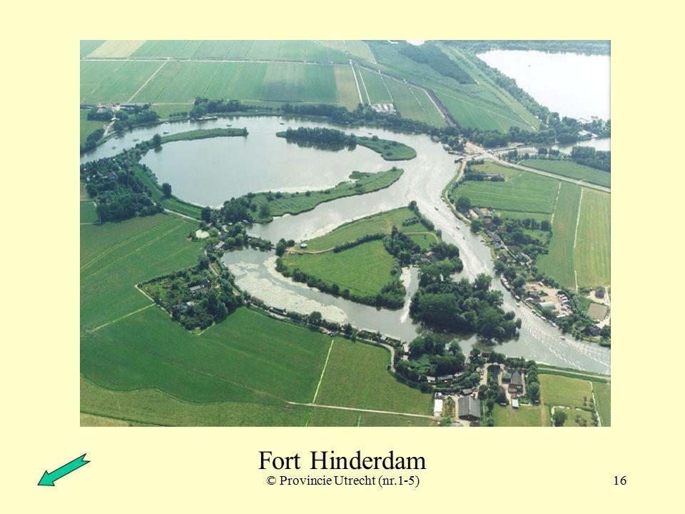 © Provincie Utrecht (nr.1-2)15 Fort Hinderdam