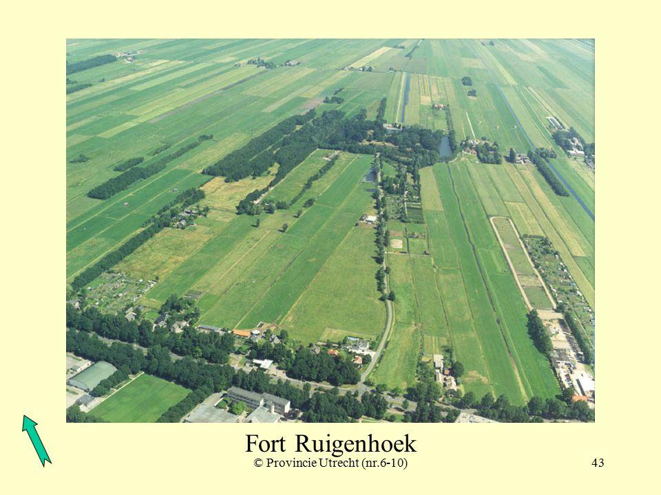 © Provincie Utrecht (nr.3-8)42 Fort de Gagel, Fort Ruigenhoek en tussenliggende schuilplaatsen Fort Ruigenhoek