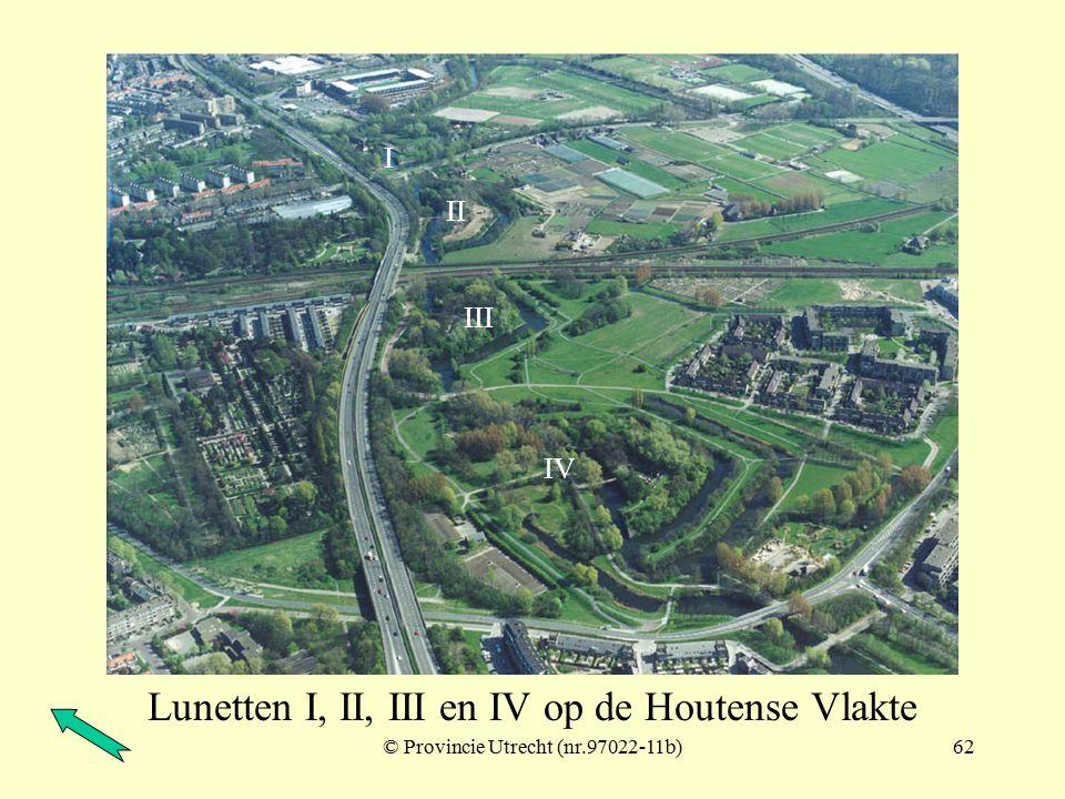 © Provincie Utrecht (nr.97022-11a)61 Lunetten I, II, III en IV op de Houtense Vlakte I II III IV