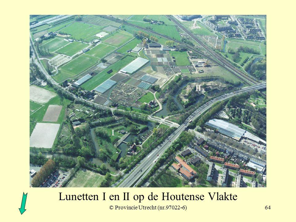© Provincie Utrecht (nr.97017-2)63 Lunetten I, II, III en IV op de Houtense Vlakte I II III IV