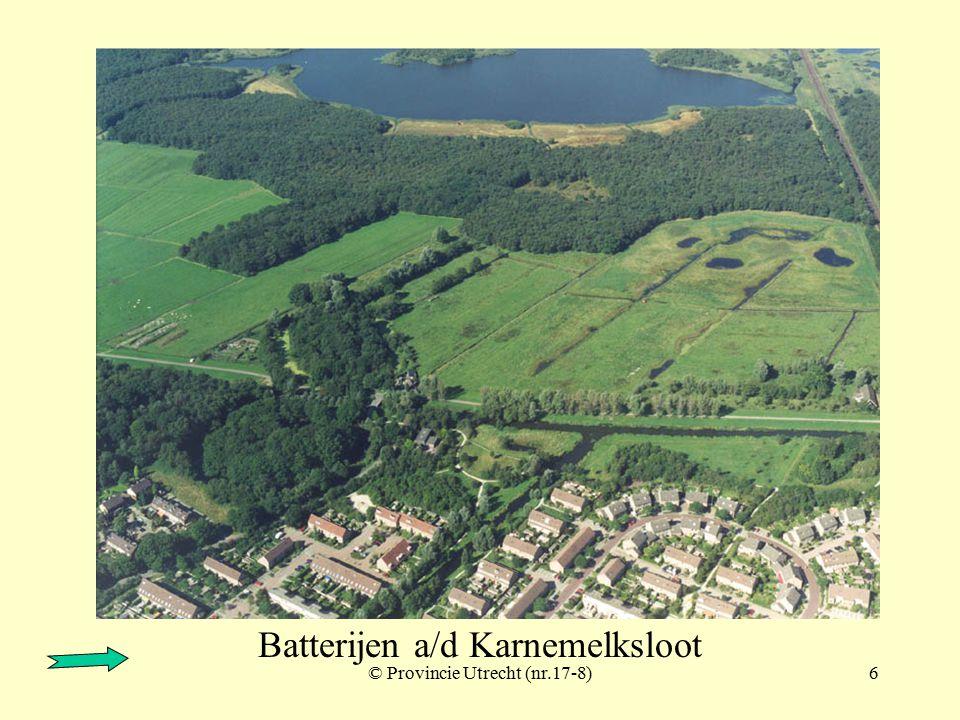 © Provincie Utrecht (nr.17-4)5 Batterijen a/d Karnemelksloot