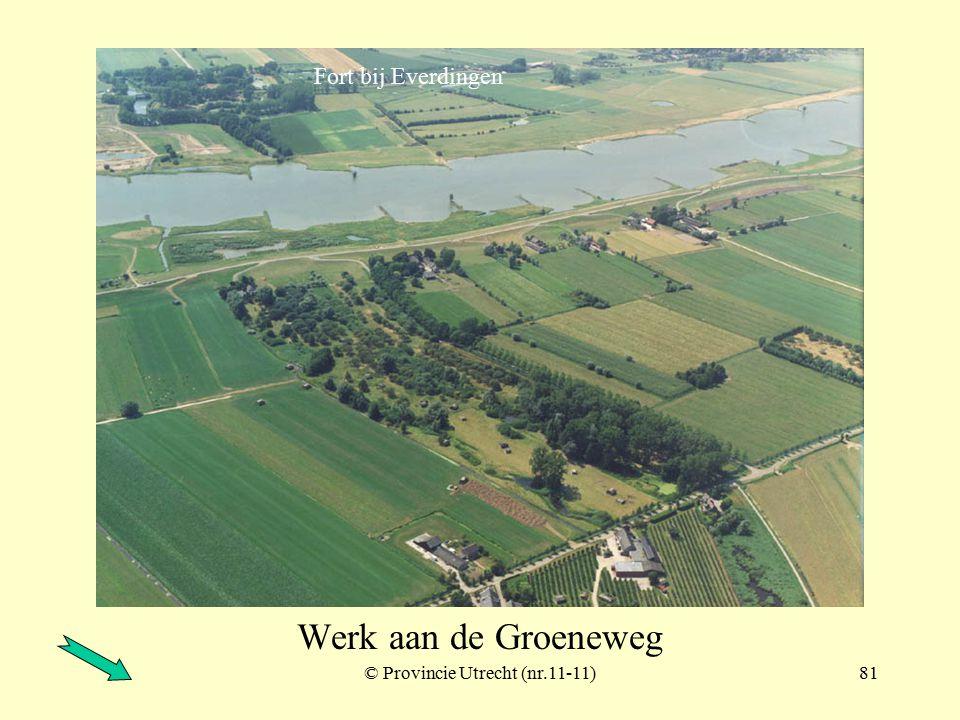 © Provincie Utrecht (109-2)80 Fort Honswijk met bijbehorende werken Lunet aan de Snel Werk a/d Korte Uitweg inundatiekanaal