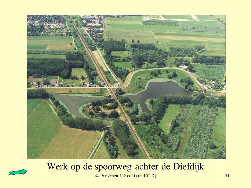 © Provincie Utrecht (102-5)90 Werk op de spoorweg achter de Diefdijk