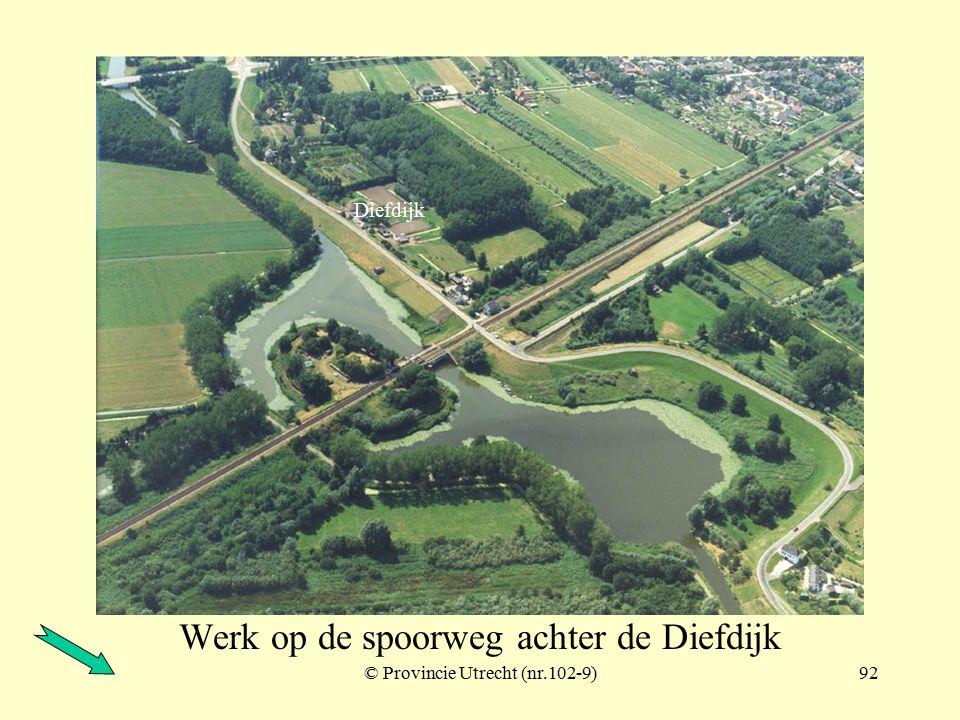 © Provincie Utrecht (nr.102-7)91 Werk op de spoorweg achter de Diefdijk