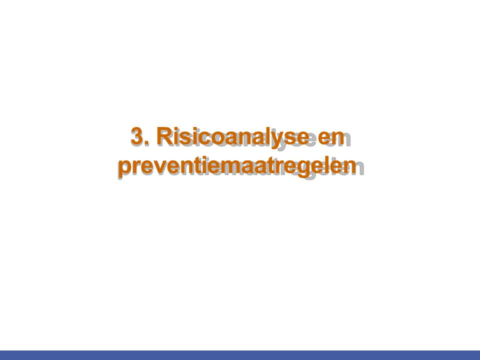 preventiemaatregelen 3. Risicoanalyse en