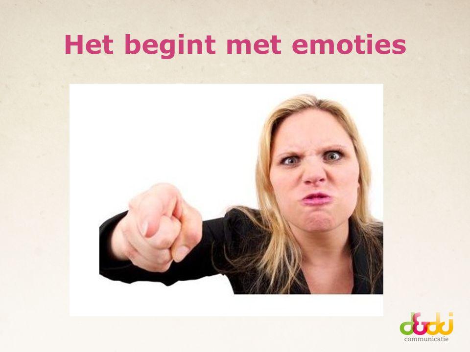 Het begint met emoties