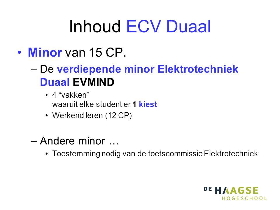 Inhoud ECV Duaal Minor van 15 CP.