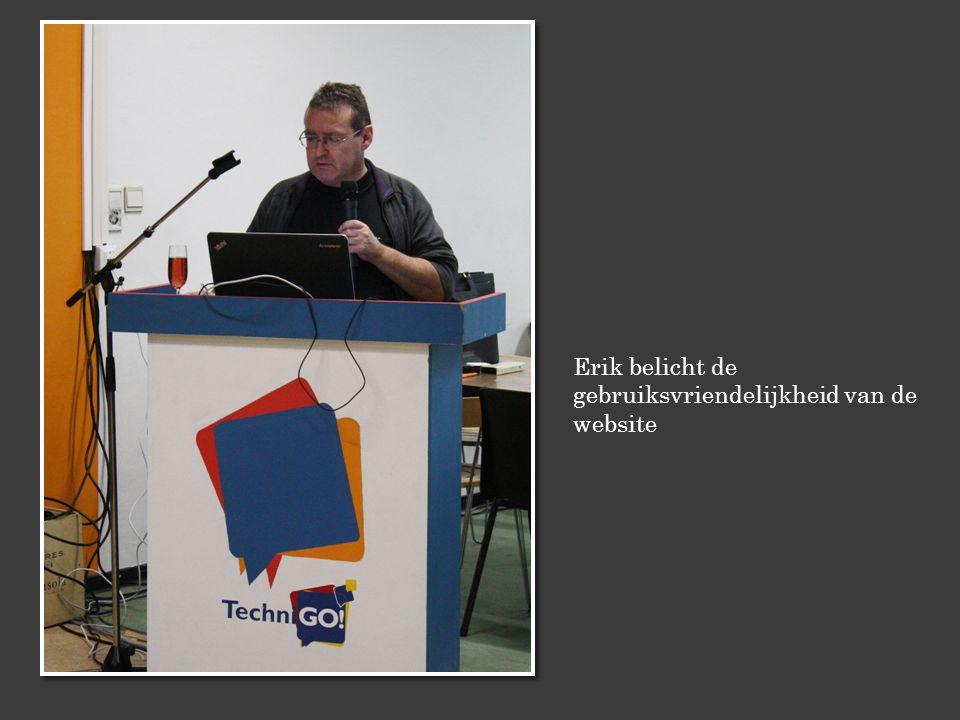 Erik belicht de gebruiksvriendelijkheid van de website