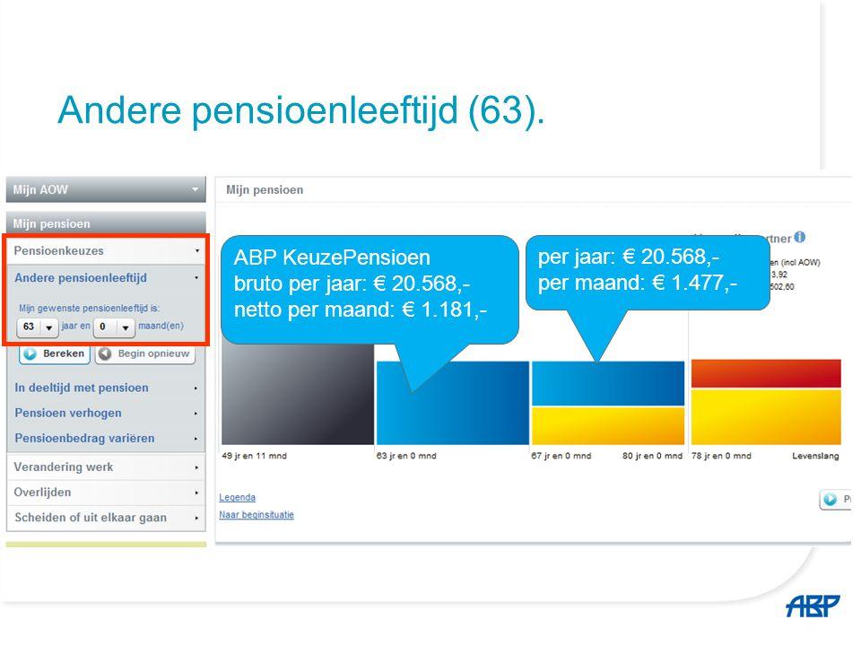63 jaar; in deeltijd met pensioen (20%).
