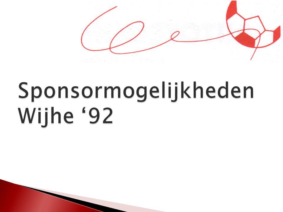 ItemSponsorbedragMaakkostenAfmetingMateriaalVoorkeurs leverancier Aanspreekpunt Wijhe 92 Reklamebord Voetbalveld Euro 150,- per jaar exlusief maakkosten Ca.