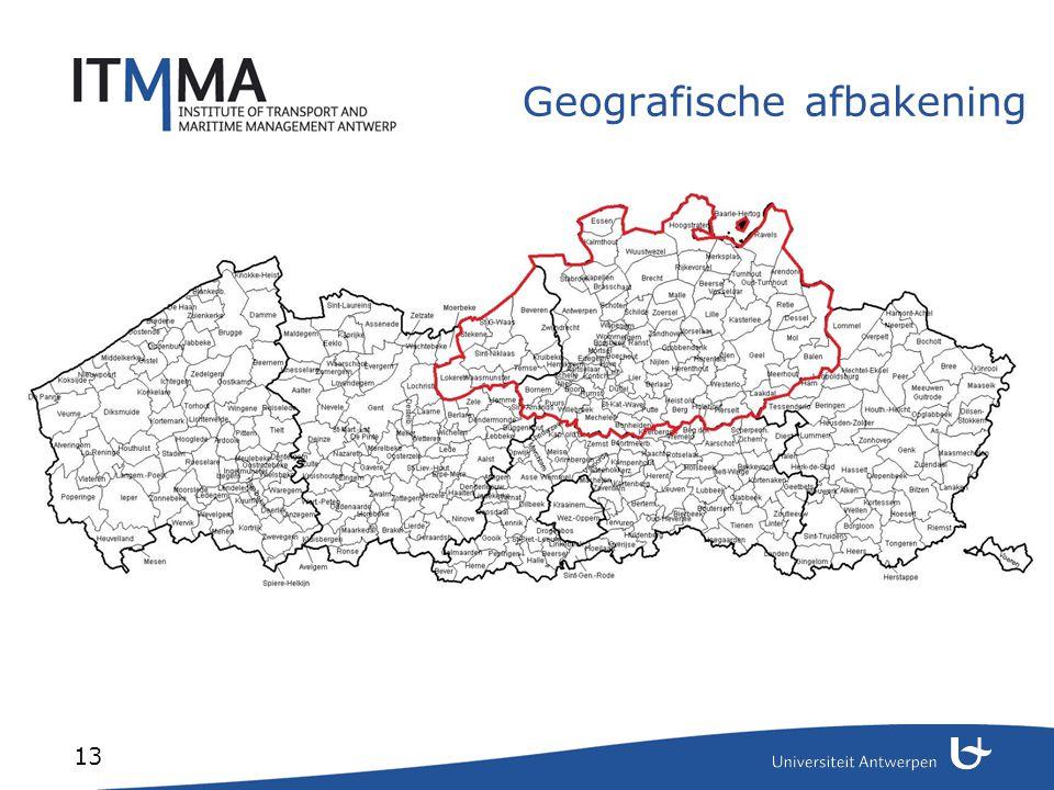 13 Geografische afbakening