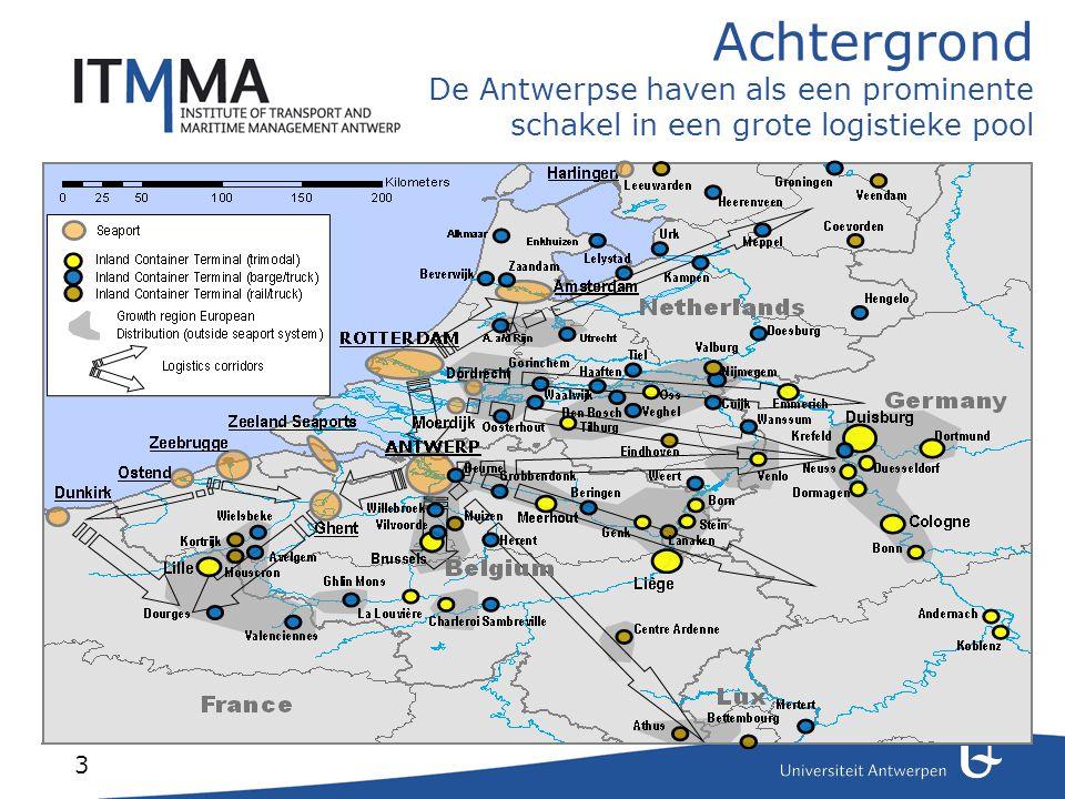 3 Achtergrond De Antwerpse haven als een prominente schakel in een grote logistieke pool