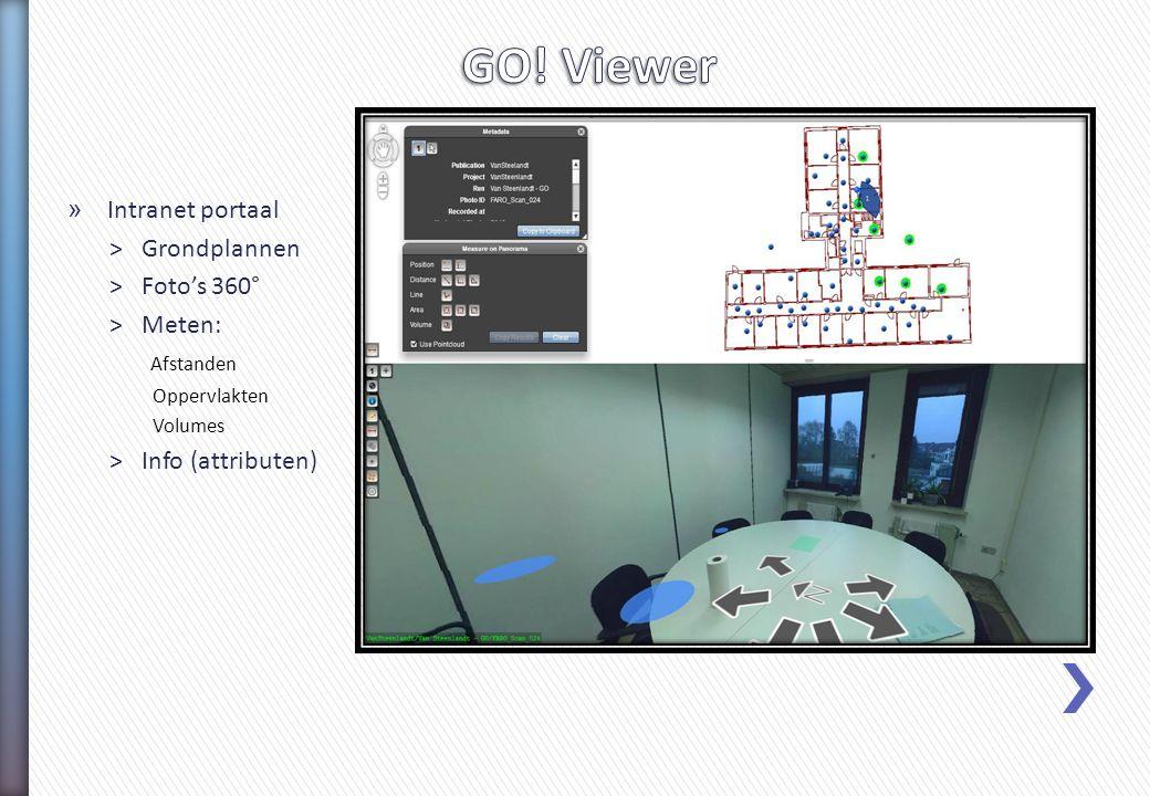 » Intranet portaal > Grondplannen > Foto's 360° > Meten: Afstanden Oppervlakten Volumes > Info (attributen)
