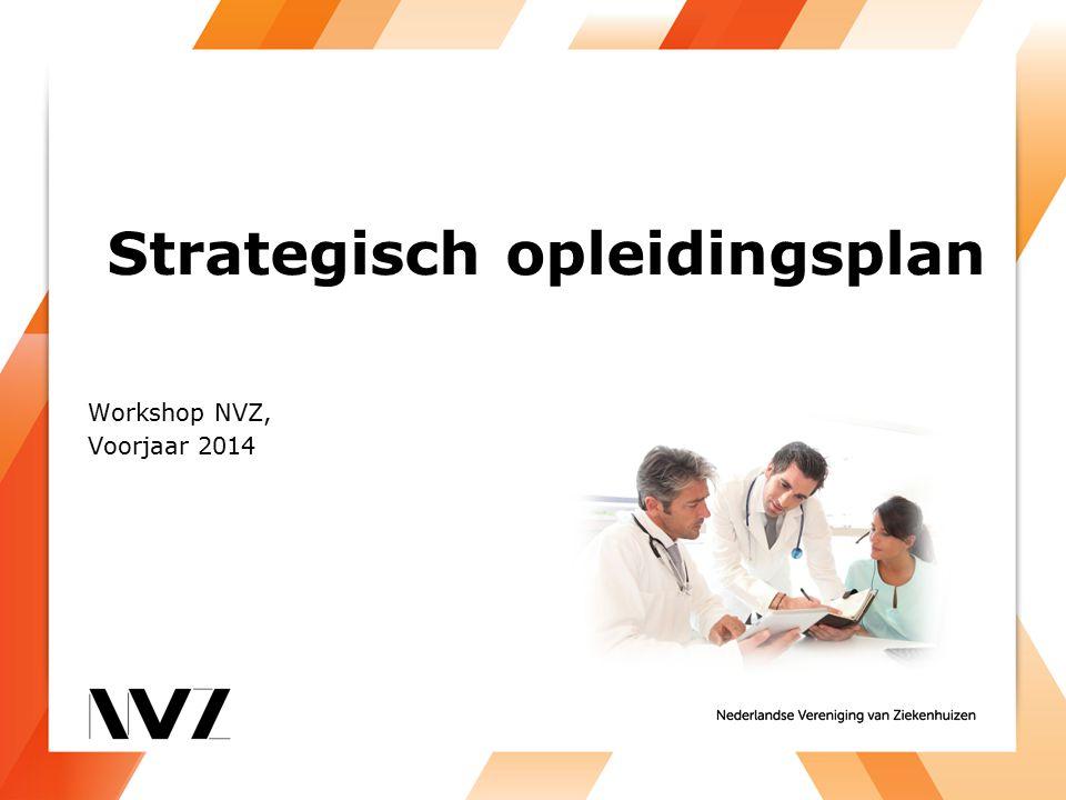 Strategisch opleidingsplan Workshop NVZ, Voorjaar 2014