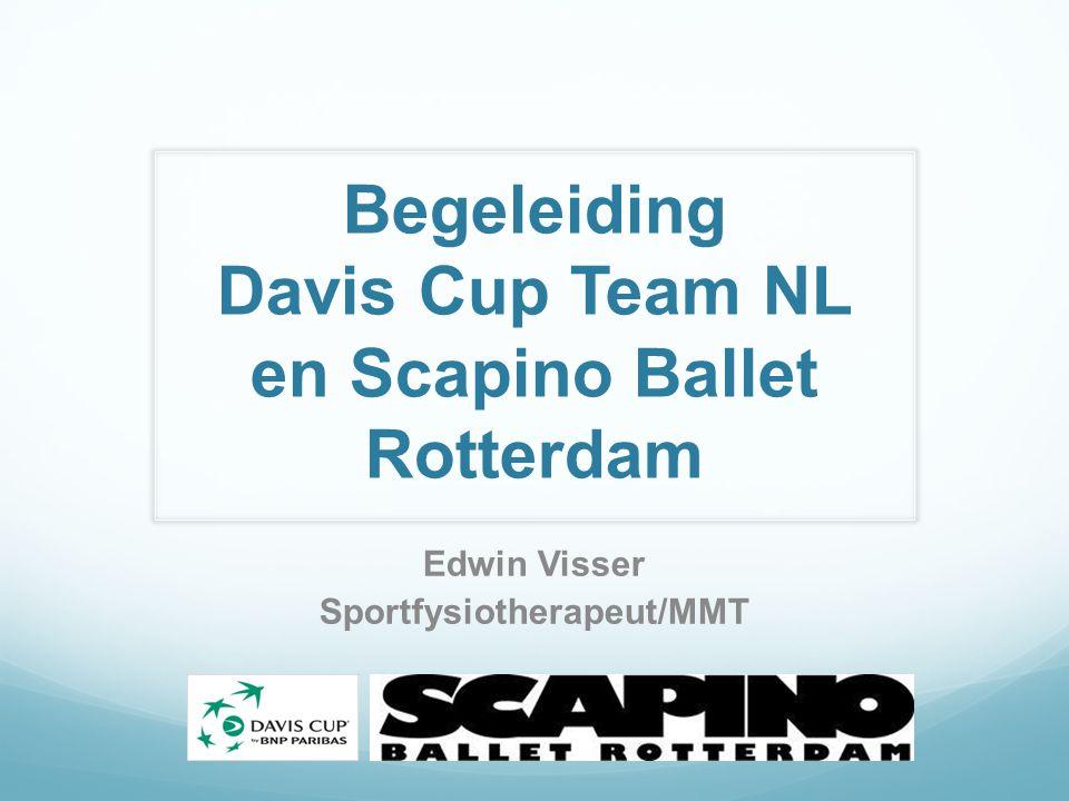Begeleiding Davis Cup Team NL en Scapino Ballet Rotterdam Edwin Visser Sportfysiotherapeut/MMT
