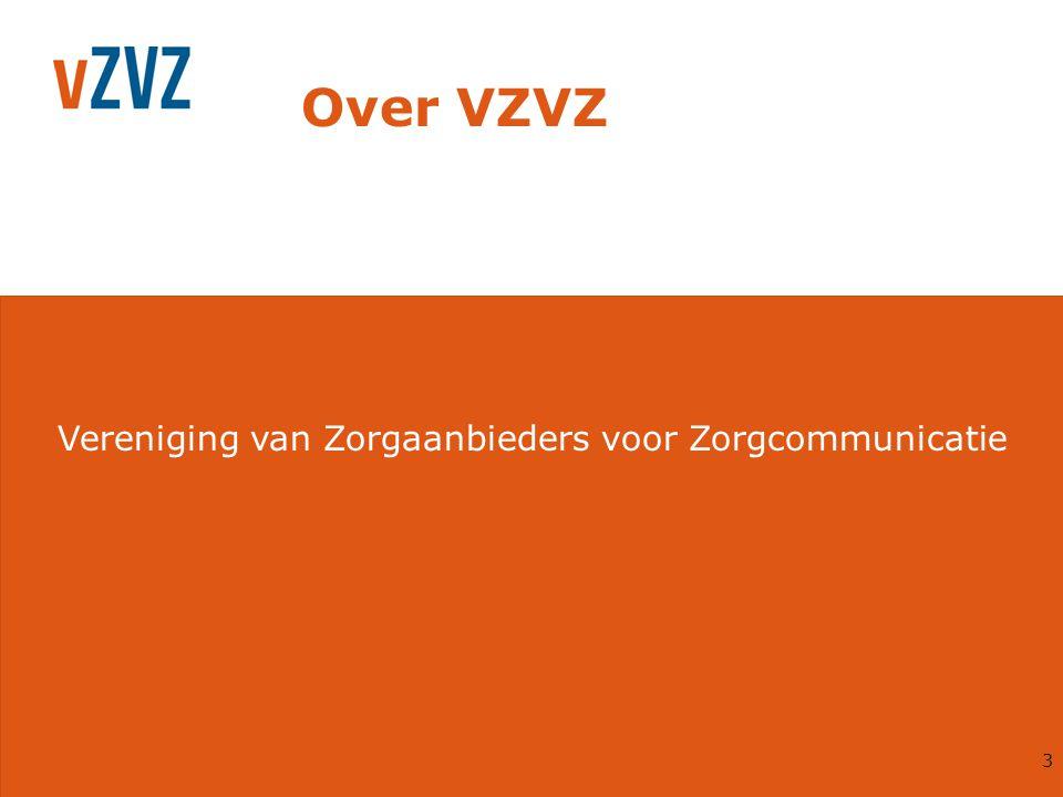 4 VZVZ: voor en door zorgaanbieders Opgericht door koepelverenigingen In nauwe samenwerking met: