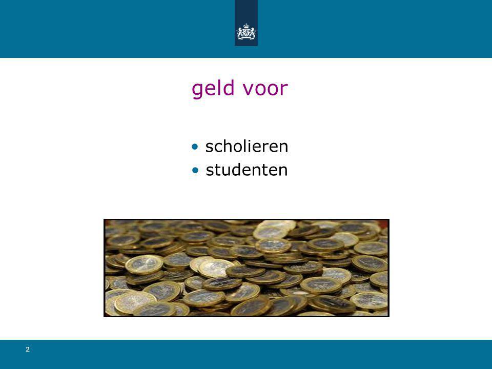 23 studiefinanciering en aanmelding studie DigiD met sms-functie aanvragen: www.digid.nwww.digid.n aanmelden nieuwe stelsel vanaf 7 april 2015
