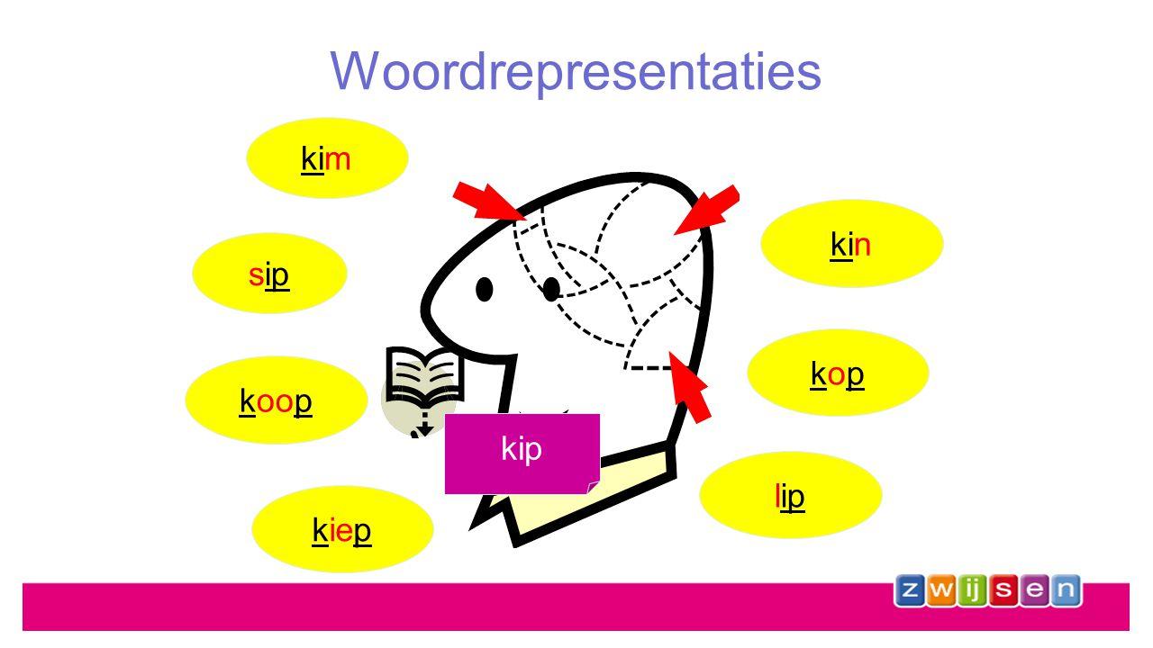 Woordrepresentaties uitspraak spellingswijze betekenis kip