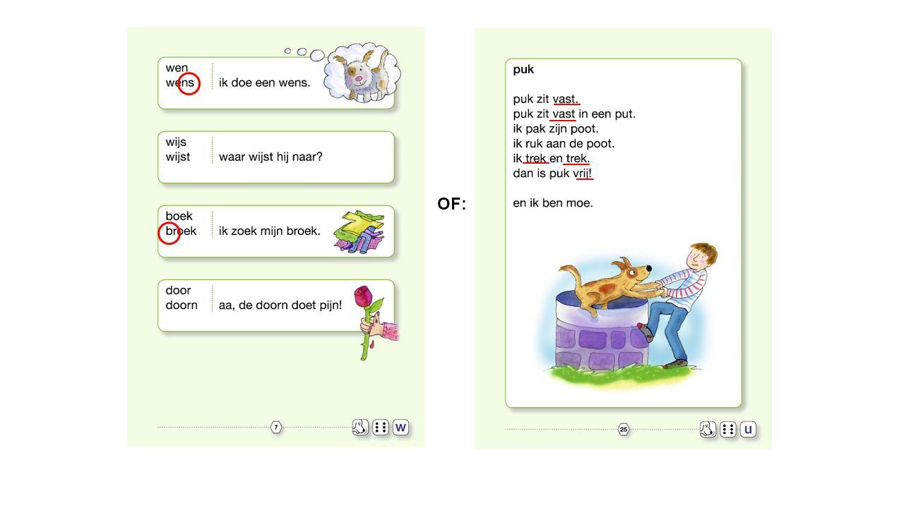 Vaste pagina-indeling per letter/woordtype w w w w Optioneel Extra uitdaging w w