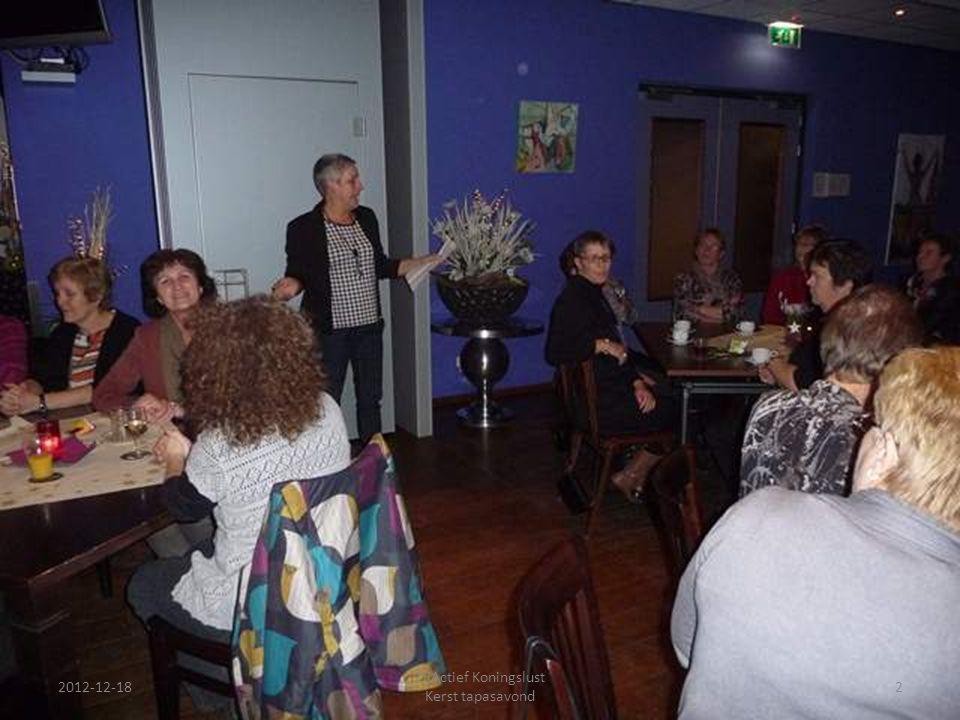 2012-12-18 ZijActief Koningslust Kerst tapasavond 2