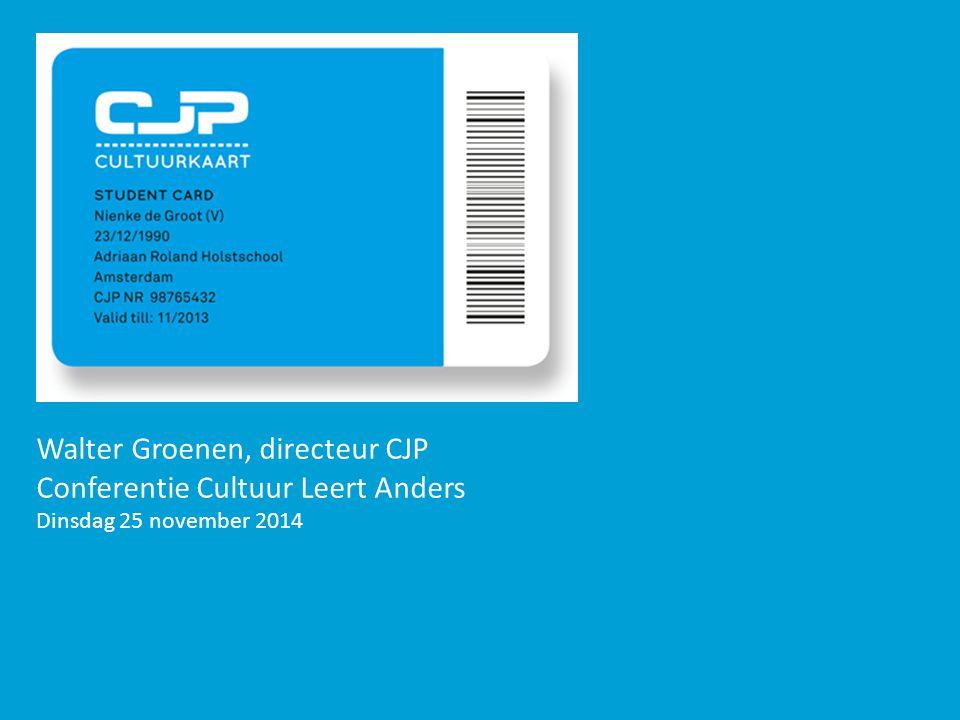 Walter Groenen, directeur CJP Conferentie Cultuur Leert Anders Dinsdag 25 november 2014