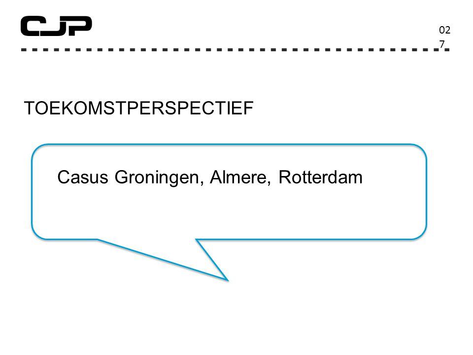 TOEKOMSTPERSPECTIEF 02727 Casus Groningen, Almere, Rotterdam