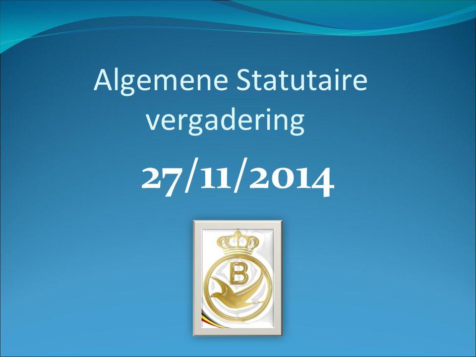 27/11/2014 Algemene Statutaire vergadering
