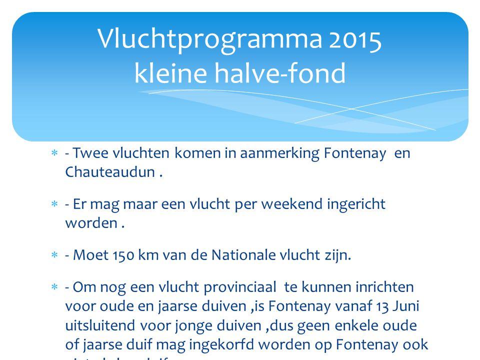  - Twee vluchten komen in aanmerking Fontenay en Chauteaudun.  - Er mag maar een vlucht per weekend ingericht worden.  - Moet 150 km van de Nationa