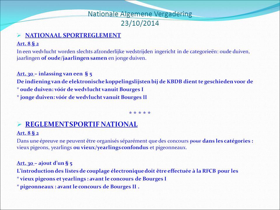 Nationale Algemene Vergadering 23/10/2014