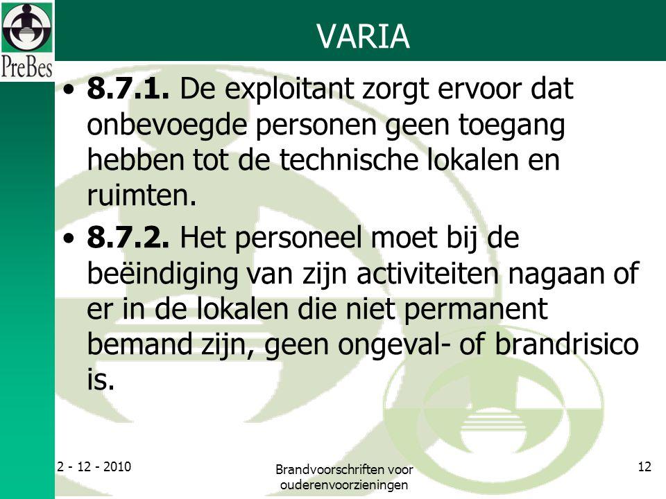 VARIA 8.7.1.